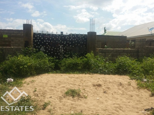 Land with 5 bedroom uncompleted duplex